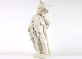 Marble-Sculpture-of-a-Young-Hunter-by-Bernard
