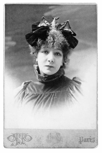 Sarah Bernhardt with Bat